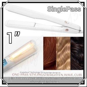 """T3 SinglePass Ceramic 1"""" Straightening Flat Iron"""